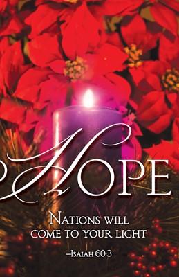 Hope Advent Candle Sunday 1 Bulletin (Pkg of 50) (Loose-leaf)