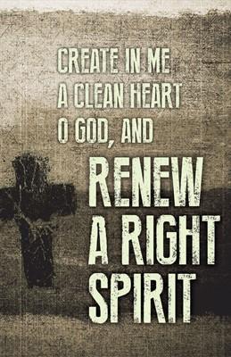 Renew Ash Wednesday Images Bulletin (Pkg of 50) (Loose-leaf)