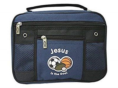 Bible Cover Jesus Is The Goal Canvas Large (Bible Case)