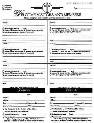 Attendance Registration Pad - Large (Pkg of 6) (Miscellaneous Print)