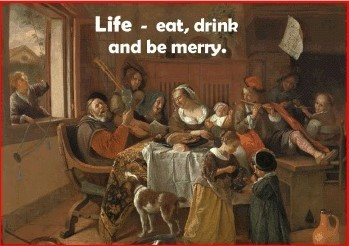 Tracts: Eat, Drink And Be Merry 50-Pack (Tracts)