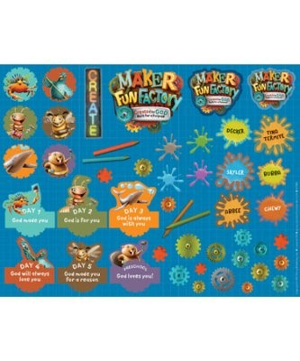 Maker Fun Factory Theme Sticker Sheets (Pack of 10 sheets) (Stickers)