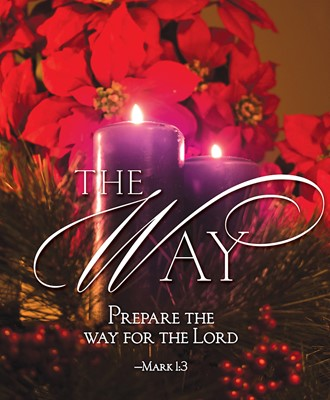 The Way Advent Candle Sunday 2 Bulletin, Large (Pkg of 50) (Loose-leaf)