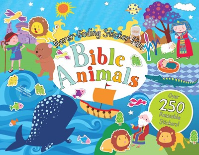 Never-Ending Sticker Fun: Bible Animals (Spiral Bound)