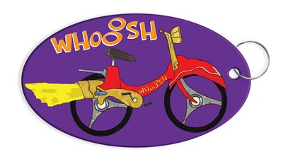 Vacation Bible School (VBS) 2019 WHOOOSH Bicycle Keychain (Keyring)