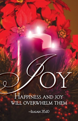 Joy Advent Candle Sunday 3 Bulletin (Pkg of 50) (Loose-leaf)