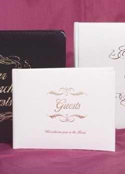 Small Bonded Leather All Occasion Guest Book - White (Imitation Leather)