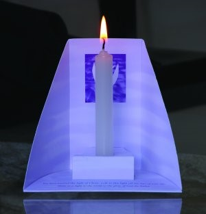 Baptism Candle Holders Contemporary (Pack of 10) (General Merchandise)