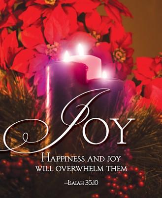 Joy Advent Candle Sunday 3 Bulletin, Large (Pkg of 50) (Loose-leaf)