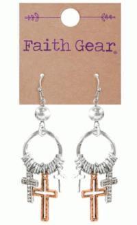 Faith Gear Women's Earrings - Mixed Crosses