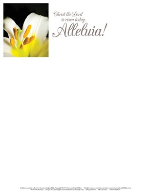 Christ the Lord Easter Lilies Letterhead (Pkg of 50) (Bulletin)