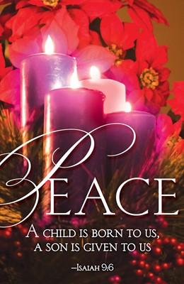 Peace Advent Candle Sunday 4 Bulletin (Pkg of 50) (Loose-leaf)