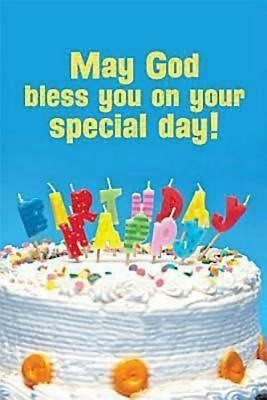Happy Birthday Cake with Candles Postcard (Pkg of 25) (Postcard)