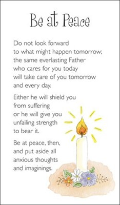 Be at Peace Prayer Card (Paperback)