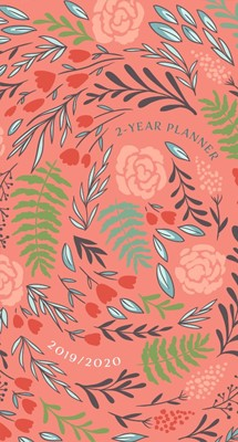 2019/2020 Two Year Pocket Planner Coral Floral (Paperback)