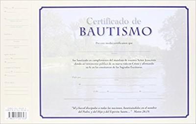 Certificados de Bautismo (Certificate)