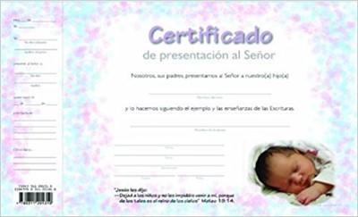 Certificado de Presentacion de Ninos (Certificate)