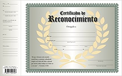 Certificado De Reconocimiento (Certificate)