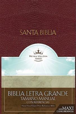 RVR 1960 Biblia Letra Granda Tamaño Manual con Referencias, (Bonded Leather)