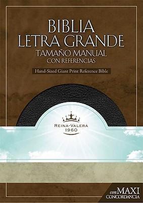 RVR 1960 Biblia Letra Granda Tamaño Manual, negro piel fabri (Bonded Leather)