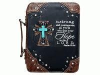 Fashion Bible Cover Cross/Hope Black (General Merchandise)