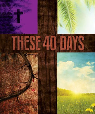These 40 Days Images Lent Bulletin, Large (Pkg of 50) (Bulletin)