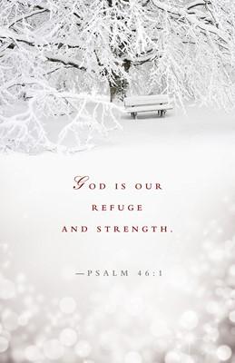 Refuge and Strength Winter Bulletin (Pkg of 50) (Loose-leaf)