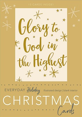 Glory To God Boxed Christmas Cards (Cards)