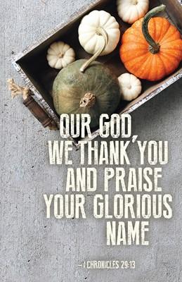Our God Thanksgiving Bulletin (Pkg of 50) (Loose-leaf)