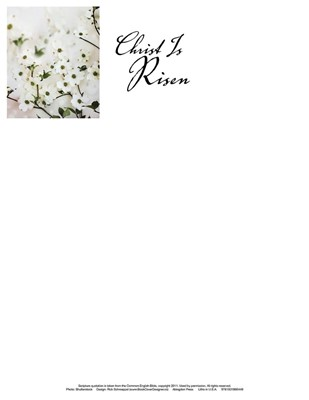 Christ Is Risen Dogwood Easter Letterhead (Pkg of 50) (Loose-leaf)