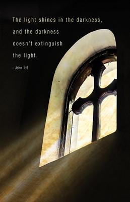 The Light Shines Funeral Bulletin (Pkg of 50) (Bulletin)