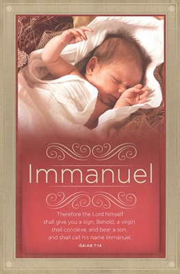 Shall Call His Name Immanuel Bulletin (Pack of 100) (Bulletin)