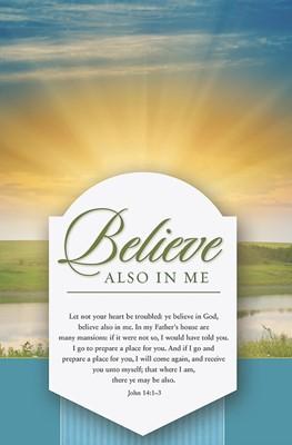 Believe Also In Me Bulletin (Pack of 100) (Bulletin)