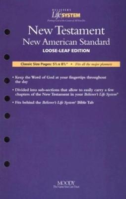 NAS New Testament- Believers Life System (Calendar)