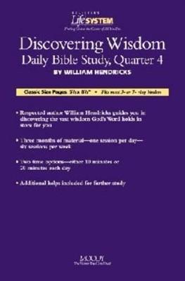 Bls Discovering Wisdom: Basic Level Quarter 4 (Calendar)