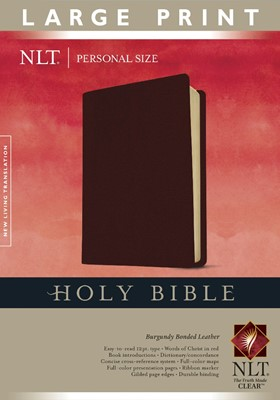 NLT Holy Bible, Personal Size Large Print Edition (Bonded Leather)