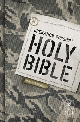 NLT Operation Worship Compact Bible, Air Force Edition (Paperback)
