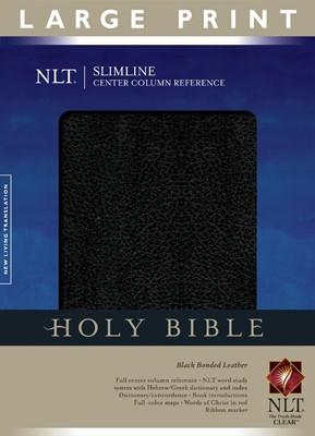 NLT Slimline Center Column Reference Bible, Large Print (Bonded Leather)
