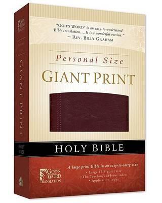 GW Personal Size Giant Print Bible Burgundy Duravella (Leather Binding)
