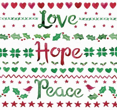 Love, Hope, Peace (Pack of 6) (Cards)