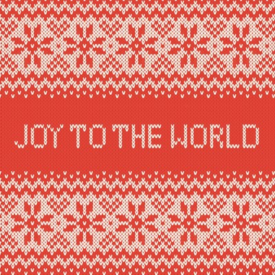 Joy To The World Red Knit Pattern (Pack of 6) (Cards)