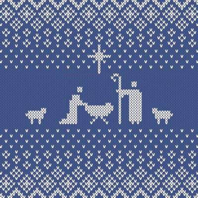 Blue Manger Blue Knit Pattern (Pack of 6) (Cards)