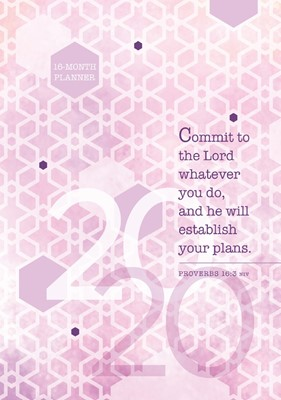 2020 16 Month Weekly Planner, Commit To The Lord (Hard Cover)