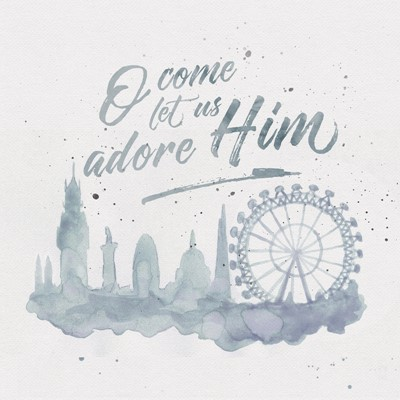 O Come Let Us Adore Him (Pack of 6) (Cards)