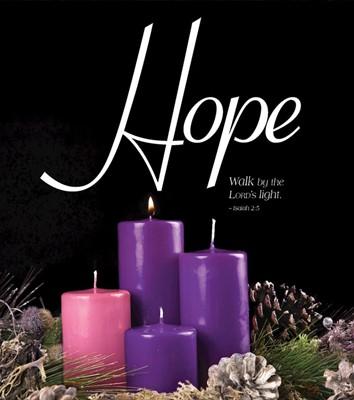 Hope Advent Candle Sunday 1 Bulletin, Large (Pkg of 50) (Bulletin)