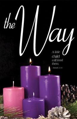 The Way Advent Candle Sunday 2 Bulletin (Pkg of 50) (Bulletin)