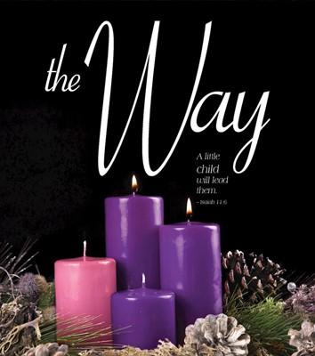 The Way Advent Candle Sunday 2 Bulletin, Large (Pkg of 50) (Bulletin)