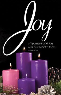 Joy Advent Candle Sunday 3 Bulletin (Pkg of 50) (Bulletin)