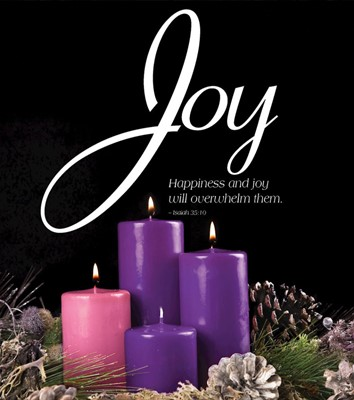 Joy Advent Candle Sunday 3 Bulletin, Large (Pkg of 50) (Bulletin)