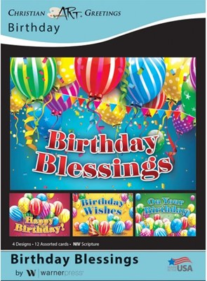 Boxed Card - Birthday Blessings (pack of 12) (Cards)